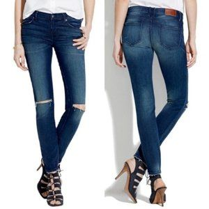 "Madewell Ripped Skinny Jeans in 8"" Low-Rise"
